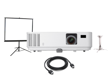 Picture of NEC-V302X + projection screen  + HDMI cable + ceiling Mount