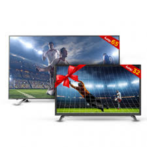 Picture of TOSHIBA 4K Smart Frameless LED TV 65 Inch With Built-In Receiver ( 65U5965EA ) + TOSHIBA LED TV 32 Inch HD With 2 HDMI and 1 USB Inputs ( 32L2600EA)