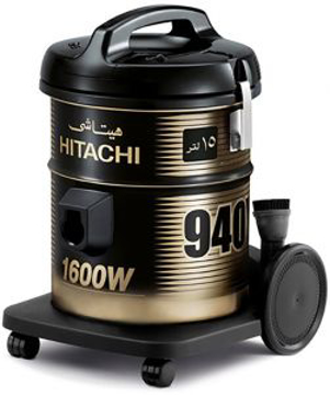Picture of HITACHI Pail Can Vacuum Cleaner 1600 Watt In Red x Gold Or Grey Color With Cloth Filter CV-940Y