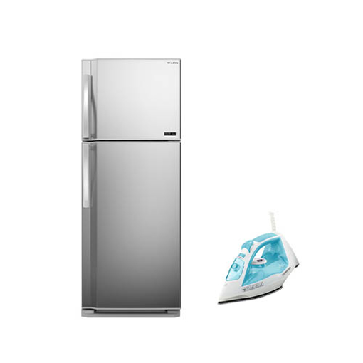 Picture of TORNADO Refrigerator No Frost 386 Liter ( RF-48T-SL ) + TORNADO Steam Iron 1800 Watt ( TST-1800 )