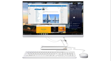"""Picture of PC-Lenovo-ALL IN ONE - 23.8"""" -Touch SCREEN - i5  - white"""